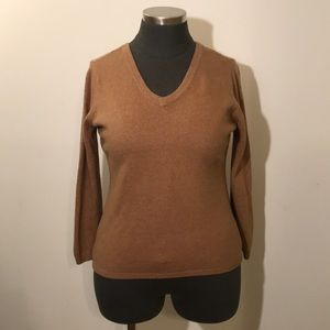 Old Navy XXL Double V Neck Camel Brown Sweater
